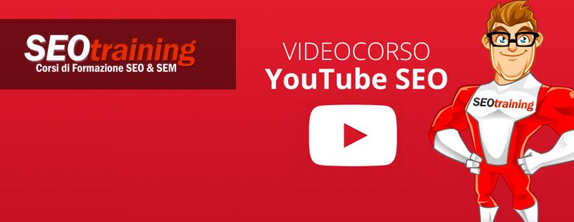 corso youtube su www.seotraining.com